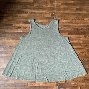 Sonoma Olive Green Loose-fit Tank Top